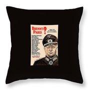 Is Paris Burning Gert Frobe As General Dietrich Von Chlitz German Theatrical Poster 1966 Throw Pillow