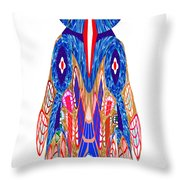 Is That A Head Or A Hat ??  Alien Fineart Graphic Whimsical Rohrshoc Abstract By Navinjoshi Throw Pillow