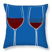Is The Glass Half Empty Or Half Full Throw Pillow by Frank Tschakert