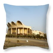 Isa Cultural Center - Manama Bahrain Throw Pillow