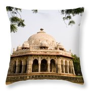Isa Khan Tomb Burial Sites Throw Pillow