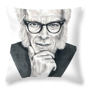Isaac Asimov Throw Pillow