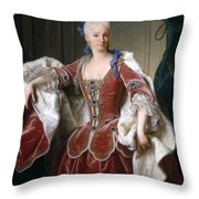 Isabella Farnese. Queen Of Spain Throw Pillow