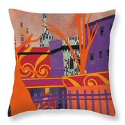 Isabella's Garden Throw Pillow