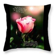 Isaiah 35 V 4 Throw Pillow