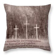 Isaiah 53 5 Throw Pillow