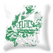 Isaiah Thomas Boston Celtics Pixel Art 15 Throw Pillow
