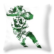 Isaiah Thomas Boston Celtics Pixel Art 5 Throw Pillow
