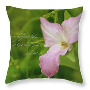 Isaiah Verse Throw Pillow by Louis Rivera