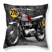 Isdt Triumph Steve Mcqueen Throw Pillow