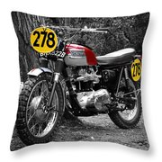 Isdt Triumph Steve Mcqueen Throw Pillow