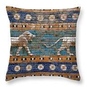 Ishtar Gate Throw Pillow