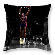 Isiah Thomas Finger Roll Throw Pillow