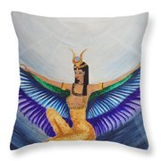 Isis Wings Throw Pillow