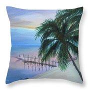 Isla Morada Sunset Throw Pillow