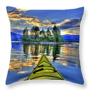 Island Adventure Throw Pillow