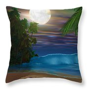 Island Beach Throw Pillow by Corey Ford