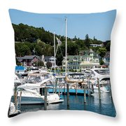 Island Boating Throw Pillow