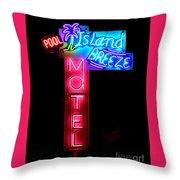 Island Breeze Motel Throw Pillow