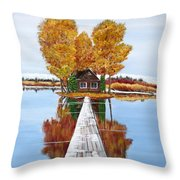 Island Cabin 2 Throw Pillow