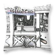 Island Cafe Throw Pillow