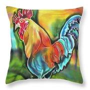 Island Cock Throw Pillow