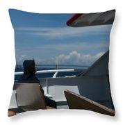 Island Commute Throw Pillow