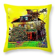 Island Cottage Throw Pillow