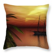 Island Explorer  Throw Pillow