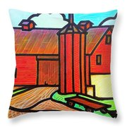 Island Ford Barn 2 Throw Pillow