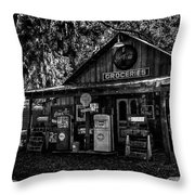 Island Grove Service Station Throw Pillow