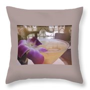Island Happy Hour Throw Pillow