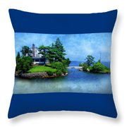 Island Home With Bridge - My Happy Place Throw Pillow