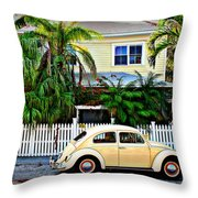 Island House Throw Pillow