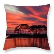 Island In The Fire Throw Pillow