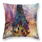 Island Lupin 6 Throw Pillow