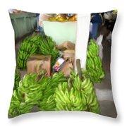 Island Market Throw Pillow