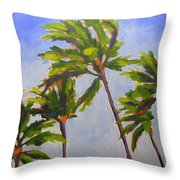 Island Palms Throw Pillow