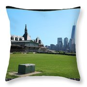 Island Park Elise Museaum Of American Immigration Journey Trip To Newyork Travel Zone America Photog Throw Pillow