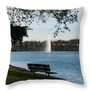 Island Park In Portage Throw Pillow