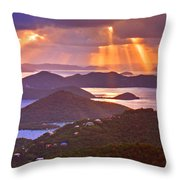Island Rays Throw Pillow