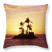 Island Silhouette Throw Pillow