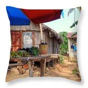 Island Street Scene Throw Pillow