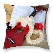 Island Style Christmas Throw Pillow