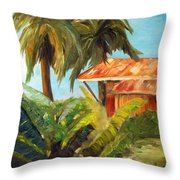 Island Sugar Shack Throw Pillow