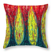 Island Three Trees Throw Pillow