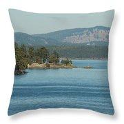 Islands And Mainland Throw Pillow