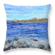 Islands And Surf Throw Pillow