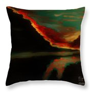 Fire Sky Throw Pillow by Marie Bulger