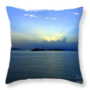 Islands In The Sunrise Tropical Paradise Throw Pillow
